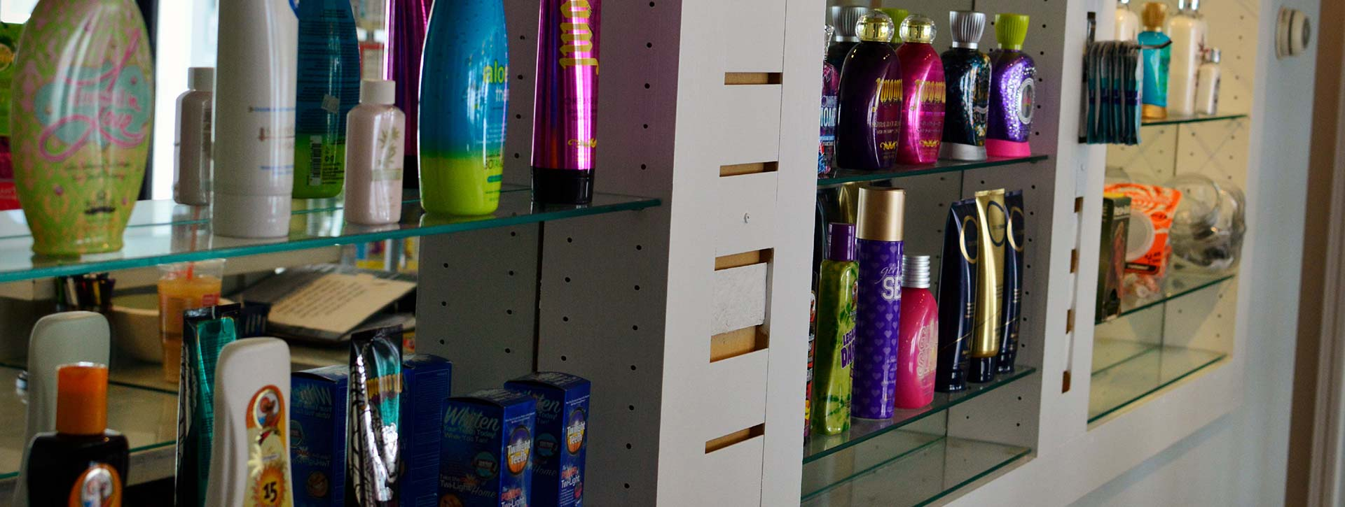 Many top of the line tanning and sunless products are available for purchase.